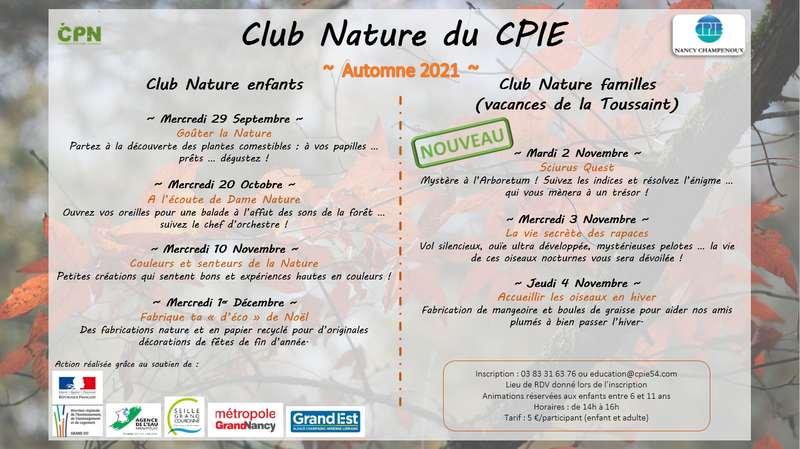 Club Nature – Le programme est enfin là !